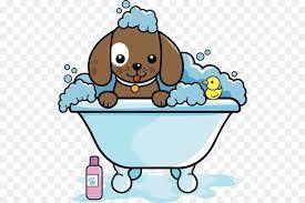 dog grooming cat clip art a puppy sprawled on a bathtub