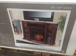 electric fireplace tv stand costco stylish tv console at roddinton 72