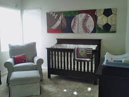 Sports Themed Bedroom Decor Sports Theme Baby Boy Nursery You Can See That The Paintings
