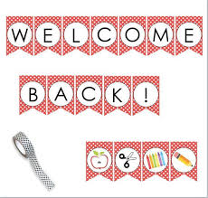 Welcome Back To School Printable Banner Sign Perfect For