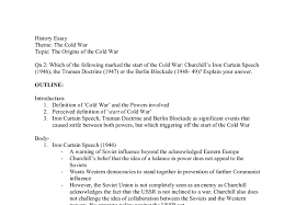 essay plan which of the following marked the start of the cold war document image preview