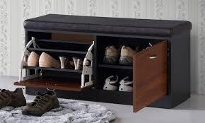 Modern and Contemporary Dark Espresso Shoe Storage Bench: Clevedon  Contemporary Shoe Storage Bench ...