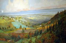 view full size hudson river school painter and rossville native jasper cropsey detail looking oceanward from todt hill is one of the artists celebrated