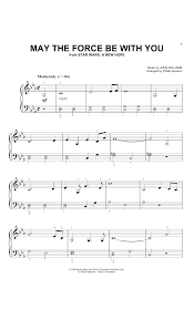 John Williams 'May The Force Be With You (from Star Wars: A New Hope) (arr.  Phillip Keveren)' Sheet Music Notes, Chords, Score. Download Printable PDF.    Sheet music, Sheet music notes, Music