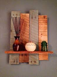 handcrafted pallet decorative wall shelf