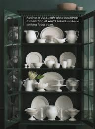 Perfect white dish display