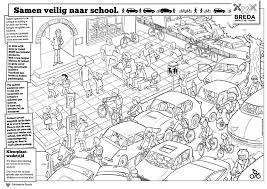 Interactieve Kleurplaat Voor Veiliger Verkeer Verkeer In Beeld