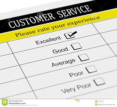 3d Customer Service Evaluation Form Stock Illustration
