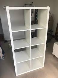 kallax high gloss white shelving unit from ikea