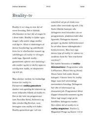 reality tv essay dk reality tv essay