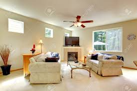 Ivory Living Room Furniture Elegant Light Tones Living Room With Fireplace And Tv Room Has