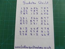 Sudoku Quilt Pattern - Ludlow Quilt and Sew & Sudoku quilt pattern layout Adamdwight.com