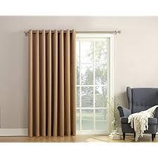 sun zero barrow energy efficient patio door curtain panel 100 patio door drapes f2