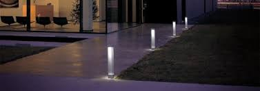 contemporary landscape lighting. modern house with path lights contemporary landscape lighting