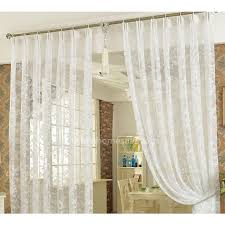Curtain Patterns New Classic Lace Curtain In White Color Embroidered Floral Pattern