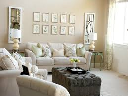 Elegant Cream Best Interior Paint Design Matched With White Sectional Sofa  And Artistic Table Lamp ...