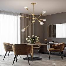 Großhandel Deckenpendelleuchte Lampe Gold Droplight Post Moderne Einstellbare Lineare Linie Gold Kronleuchter Licht Lampe Für Wohn Esszimmer Von