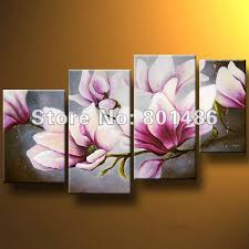 decorative painting magnolia tree 2 on magnolia canvas wall art with hand painted oil tree painting 4 piece wall art canvas magnolia