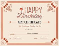 Word Templates For Gift Certificates 29 Best Printable Gift Certificates Images Free Printables