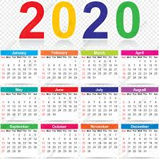 Colorful 2020 Calendar Colorful Colorful Calendar