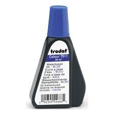 <b>Штемпельная краска Trodat 7011</b> синяя водная 28 мл — купить в ...