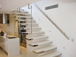 how to build floating stairs, modern staircase with glass blustrade