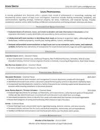 JD Grad Resume Sample