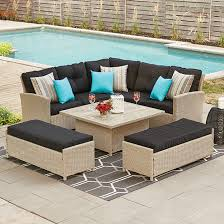 style selections sectional dining set