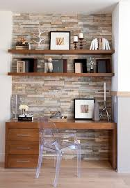 clear office. Office Accent Wall Ideas Home Transitional With Framed Artwork Clear Chair Neutral Colors I