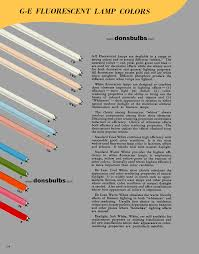donsbulbs online reference library Simple Electrical Wiring Diagrams page 14 ge fluorescent lamp colors Medi Lite Wire Diagram