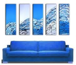 modern art for office. free ship 250 blue success 5 abstract modern paintings wall art home office for r