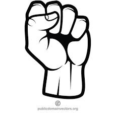 Fist vector clip art