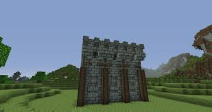 Minecraft Medieval wall design YouTube