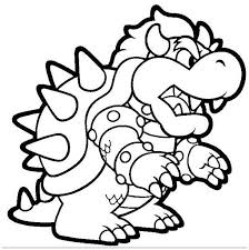 Bowser Coloring Page For Kids Coloring Board Pinterest