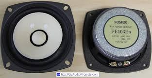 fostex fe103en fullrange speaker driver