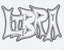 Libra Horoscope Coloring Page Zodiac Graffiti