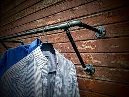 Wall mounted clothing rails Storage Image Etsy Heavy Duty Wall Mounted Clothes Rack Wall Mounted Clothes Etsy