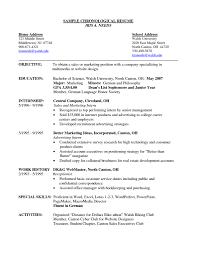 Chronological Resume Samples U0026 Writing Guide Rg Lecture 3