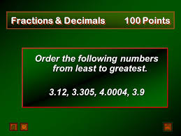 Fractions From Least To Greatest Chart Fractions Decimals Similarity Formula Chart Potpourri