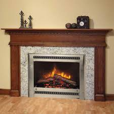 high black marble fireplace placed on the cream wall and brown