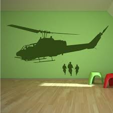 <b>Army Helicopter Soldiers Wall</b> Sticker