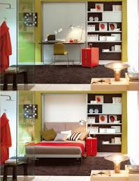 idea 4 multipurpose furniture small spaces. Hidden Bed Added With Simple Floating Black Desk And Ergonomic Yellow Banquette On Large Fur Area Rug Multi Purpose Furniture Ideas For Narrow Idea 4 Multipurpose Small Spaces L