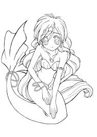 Small Picture Awesome Mermaid Coloring Pages Online Ideas Printable Coloring