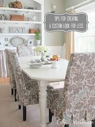 chair covers in that fabric i used on the little cabinet pretty on these chairs