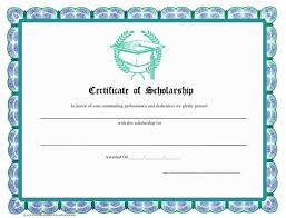 Scholarship Certificate Template Scholarship Certificate Template Download Printable Pdf