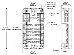 st blade fuse block circuits negative bus and cover pdf file wiring schematic