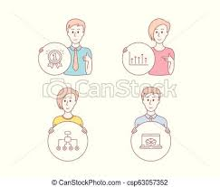 Growth Chart Reward And Restructuring Icons Online Delivery Sign Upper Arrows First Place Delegate Vector