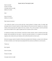 Letter To Terminate Contract With Supplier Agreement To Supply Goods Template Notice Of Vendor