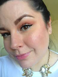 image here you can see how the foundation looks a little cakey on my