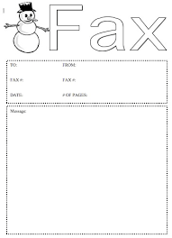 Free Fax Cover Sheets Print Snowman Fax Cover Sheet At Freefaxcoversheets Net